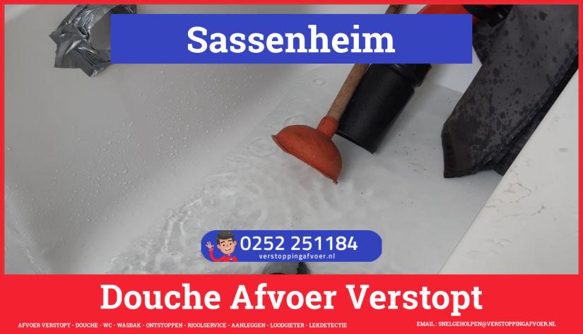 Doucheputje ontstoppen Sassenheim