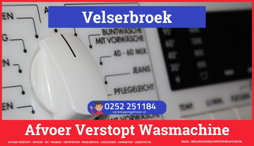 rioolservice wasmachine afvoer ontstoppen in Velserbroek