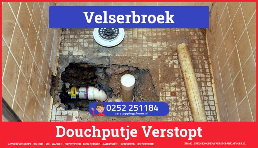 Doucheputje ontstoppen Velserbroek
