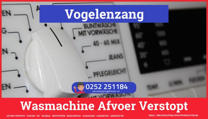 rioolservice afvoer ontstoppen wasmachine in Vogelenzang