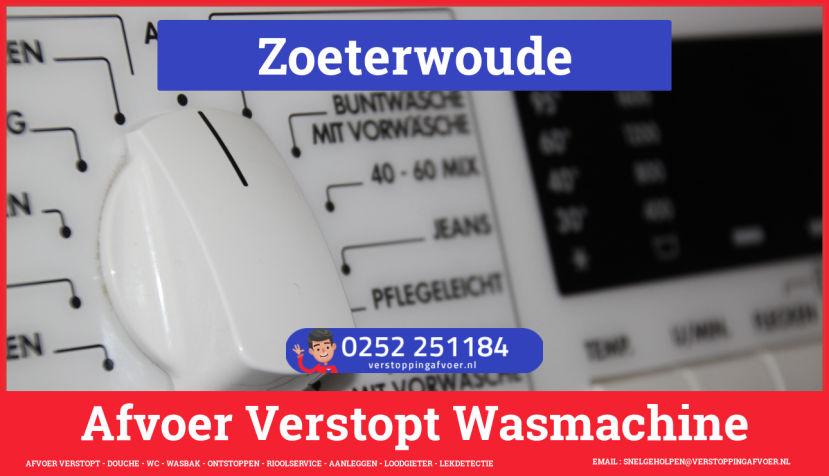 rioolservice afvoer ontstoppen wasmachine in Zoeterwoude