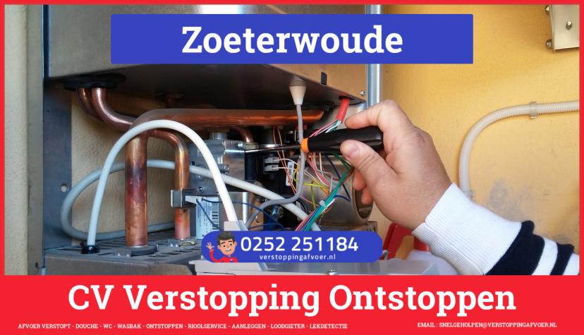 rioolservice afvoer van cv ketel verstopt in Zoeterwoude