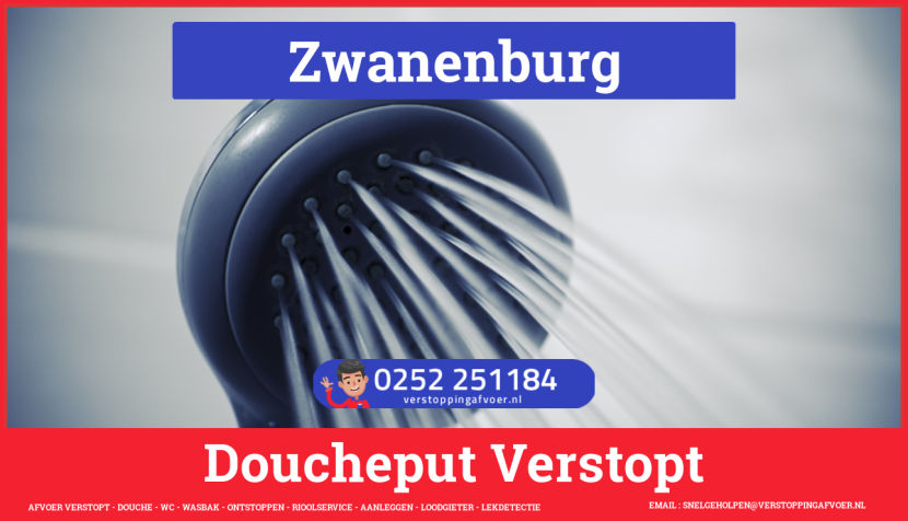 Doucheputje ontstoppen Zwanenburg