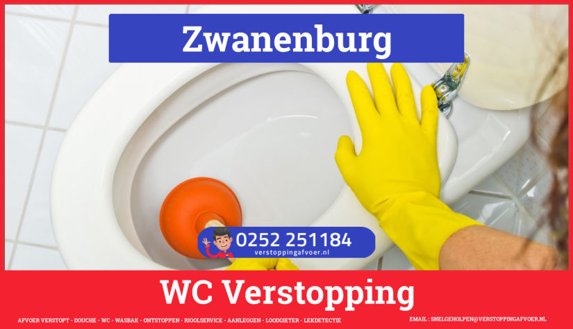 Verstopping wc ontstoppen in Zwanenburg