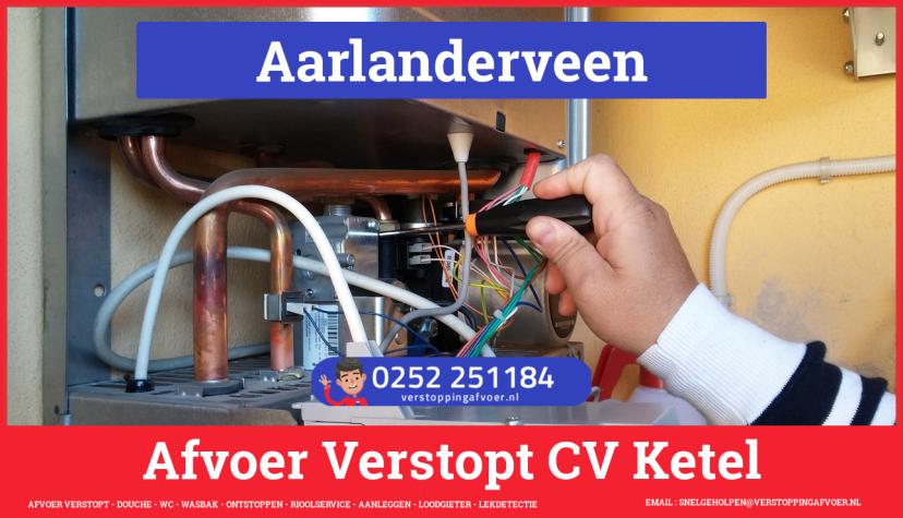 rioolservice afvoer van cv ketel verstopt in Aarlanderveen