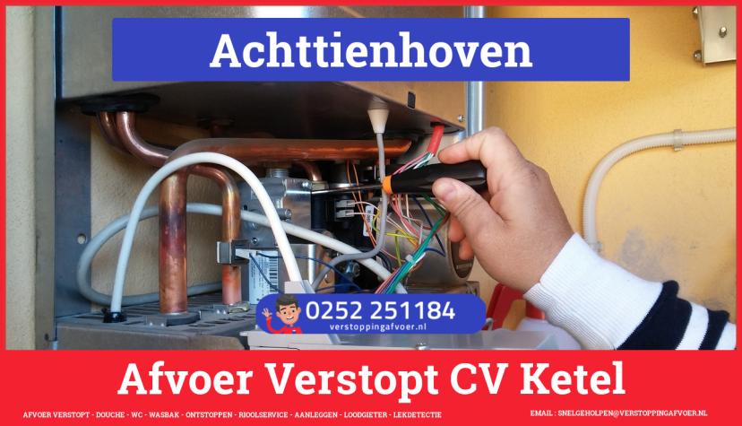 rioolservice cv ketel afvoer verstopt in Achttienhoven