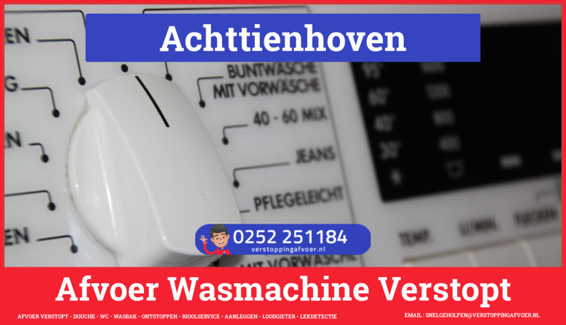 rioolservice afvoer ontstoppen wasmachine in Achttienhoven