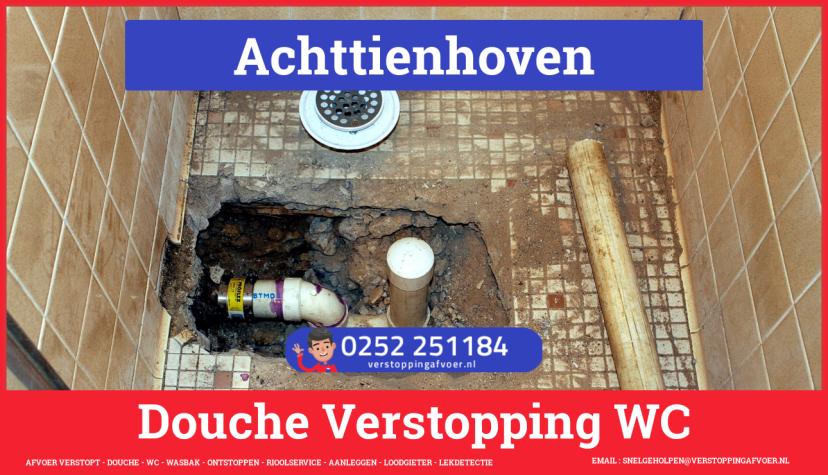 Doucheputje ontstoppen Achttienhoven
