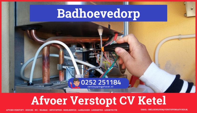rioolservice afvoer van cv ketel verstopt in Badhoevedorp