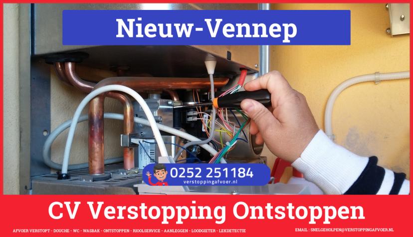 rioolservice cv ketel afvoer verstopt in Nieuw-Vennep