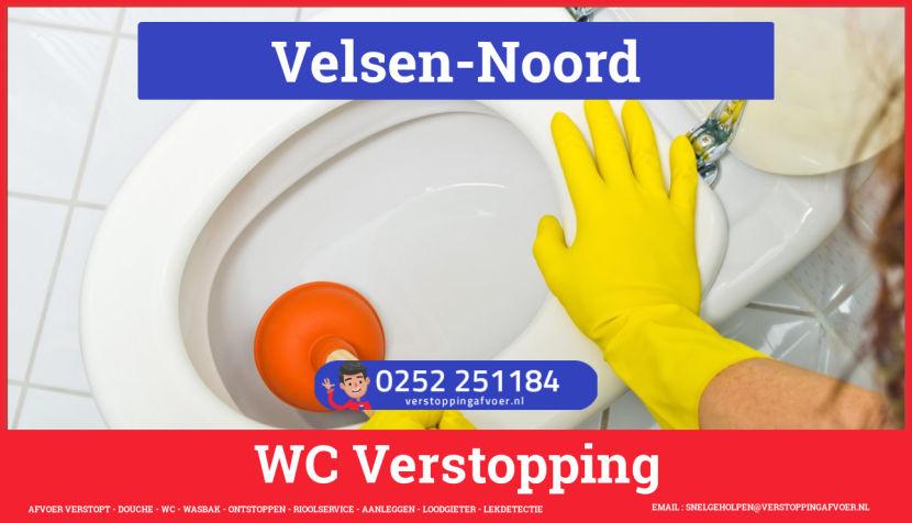 Verstopping wc ontstoppen in Velsen-Noord