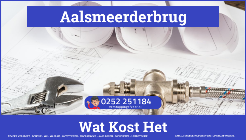 rioolservice cv ketel afvoer verstopt in Aalsmeerderbrug