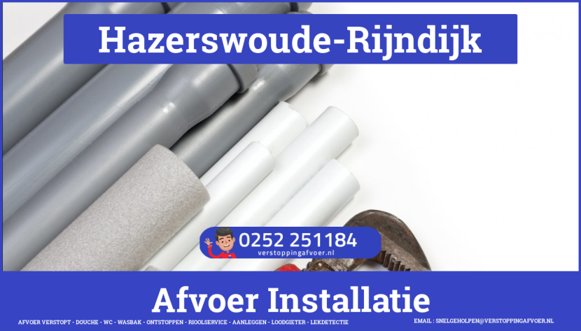 rioolservice afvoer verstopt cv in Hazerswoude-Rijndijk