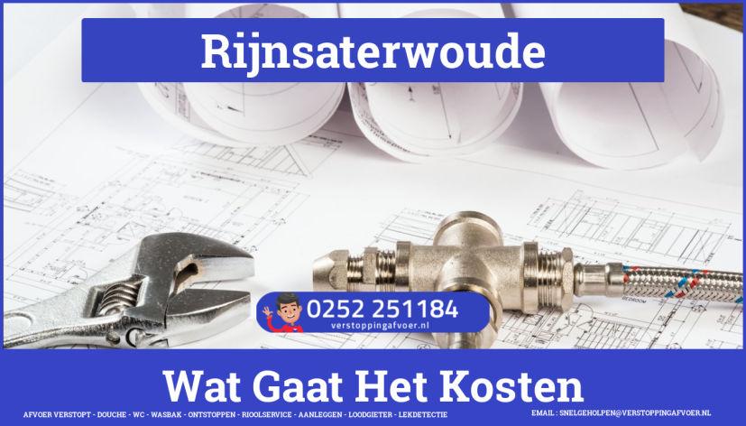 rioolservice cv ketel afvoer verstopt in Rijnsaterwoude