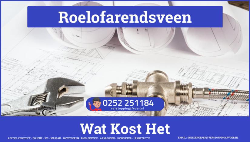 rioolservice cv ketel afvoer verstopt in Roelofarendsveen
