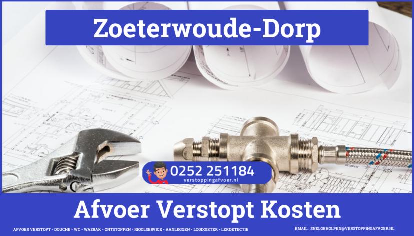 rioolservice afvoer van cv ketel verstopt in Zoeterwoude-Dorp