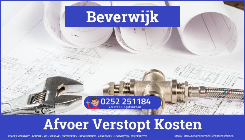 rioolservice afvoer van cv ketel verstopt in Beverwijk