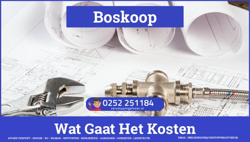 rioolservice afvoer van cv ketel verstopt in Boskoop