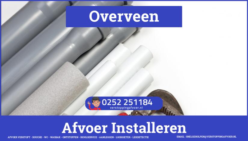 rioolservice afvoer van cv ketel verstopt in Overveen