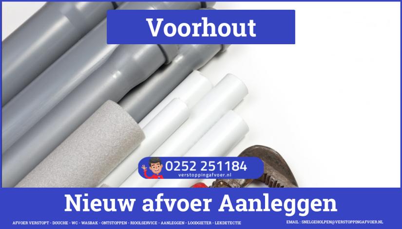 rioolservice cv ketel afvoer verstopt in Voorhout