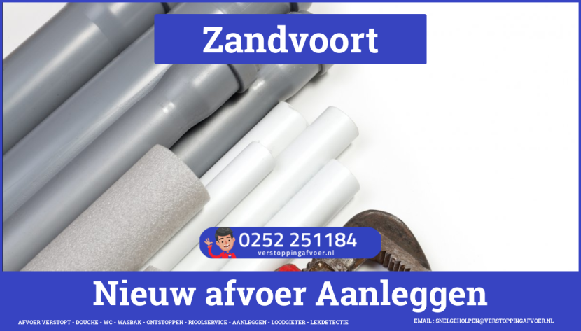 rioolservice afvoer van cv ketel verstopt in Zandvoort