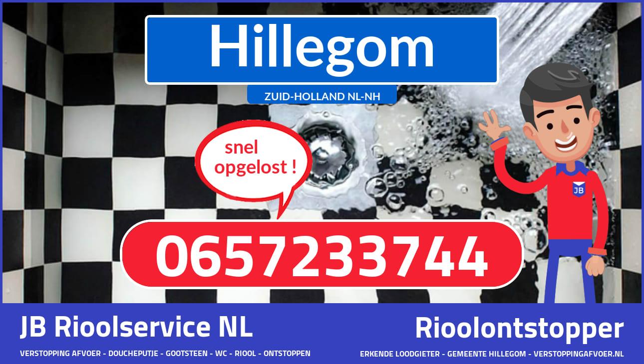 gootsteen afvoer verstopt Hillegom ZH