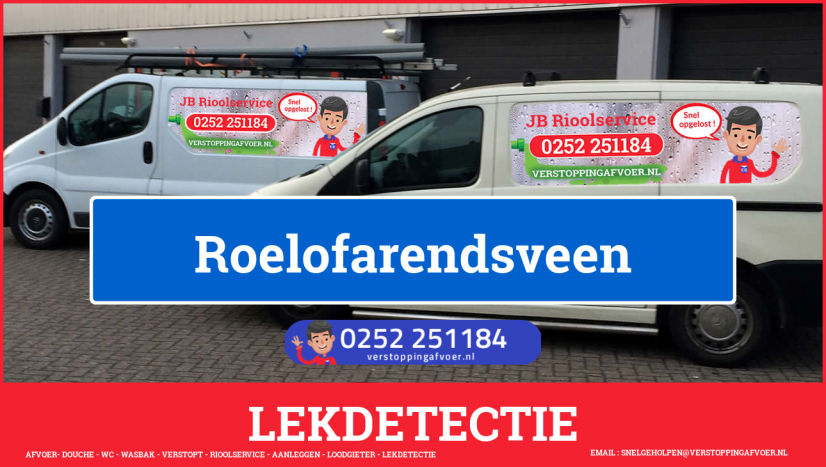 eb rioolservice lekdetectie in Roelofarendsveen