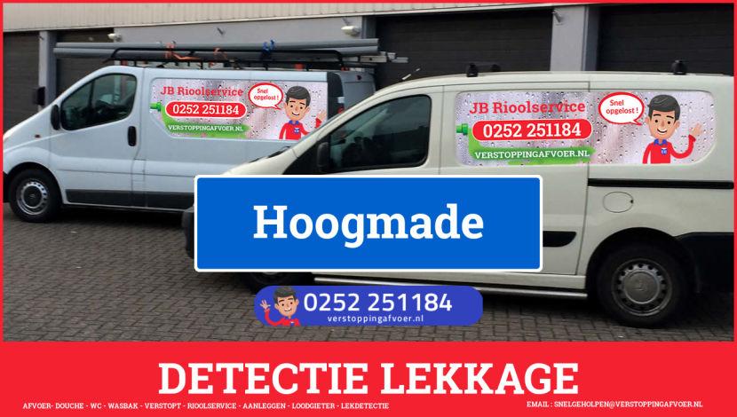 eb rioolservice lekdetectie in Hoogmade