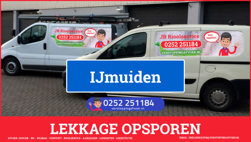 eb rioolservice lekdetectie in IJmuiden