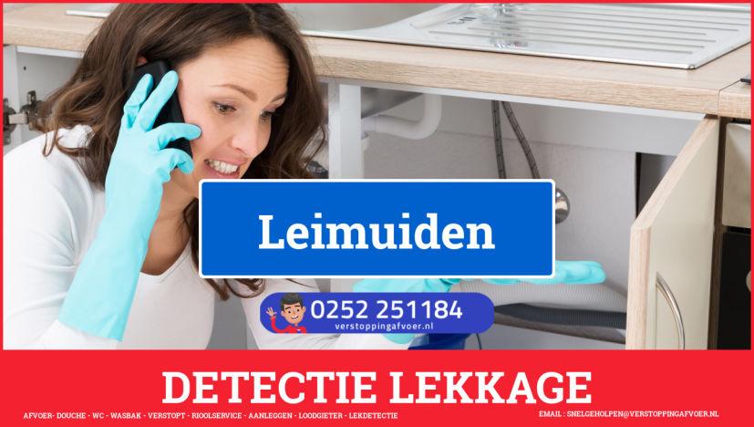 eb rioolservice lekdetectie in Leimuiden