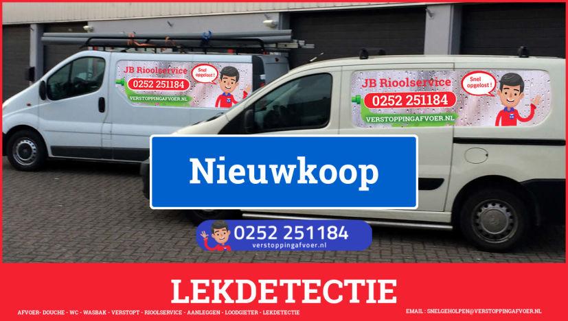 eb rioolservice lekdetectie in Nieuwkoop