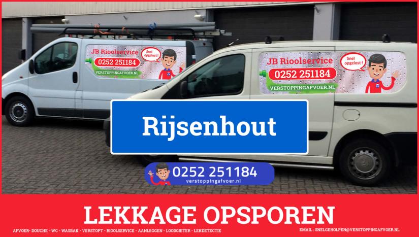 eb rioolservice lekdetectie in Rijsenhout