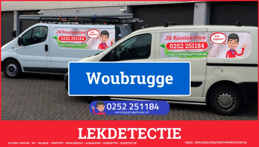eb rioolservice lekdetectie in Woubrugge