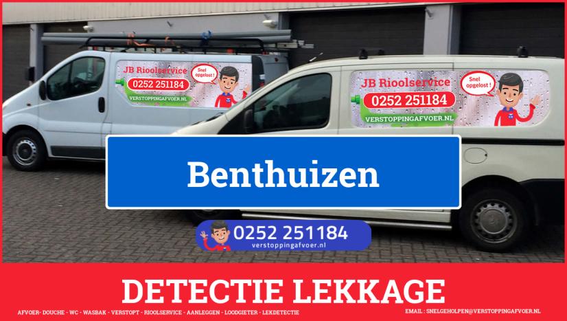 eb rioolservice lekdetectie in Benthuizen
