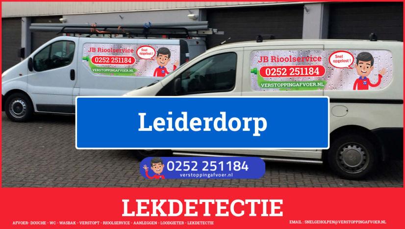 eb rioolservice lekdetectie in Leiderdorp
