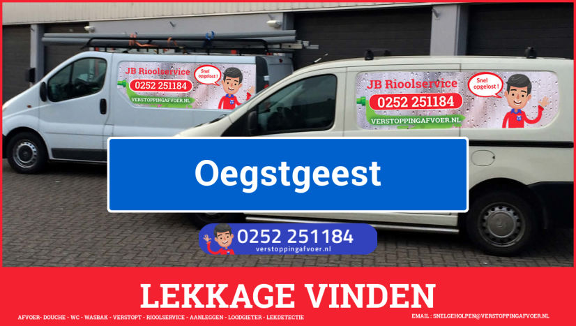 eb rioolservice lekdetectie in Oegstgeest