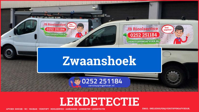 eb rioolservice lekdetectie in Zwaanshoek