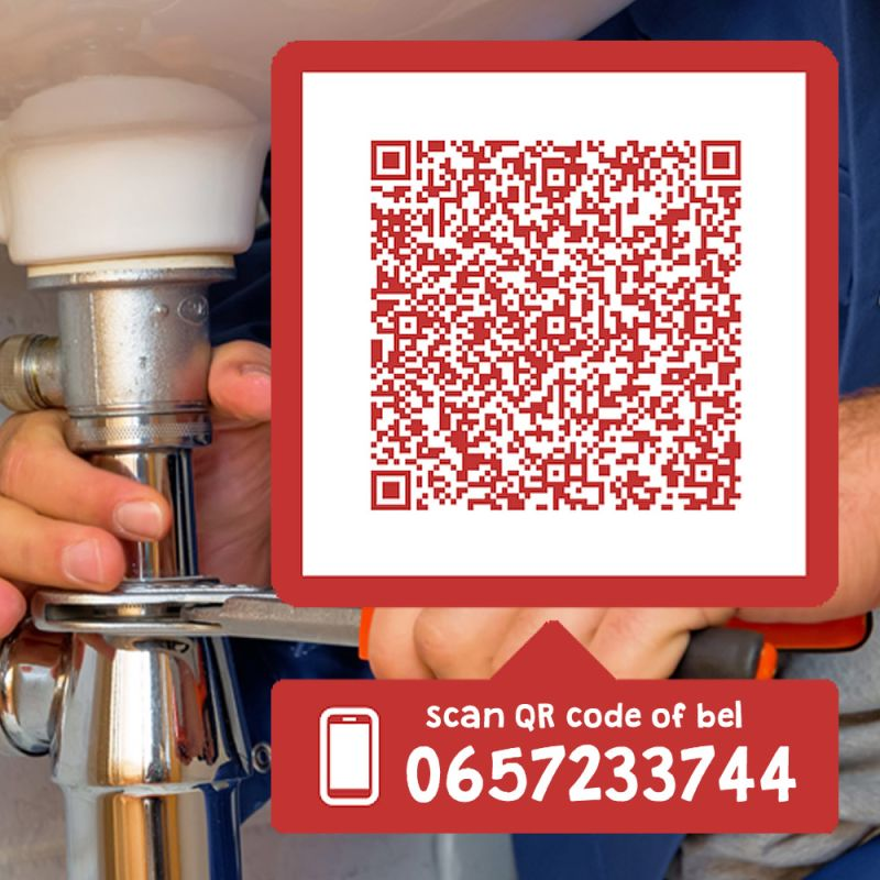 verstopping afvoer scan qr code