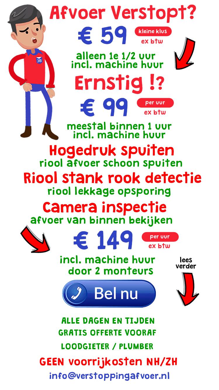 Loodgieter Verstopte Afvoer Verstopt Haarlem 2019
