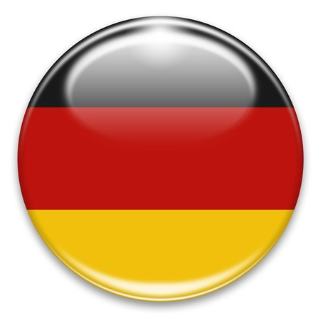 german flag button isolated on white