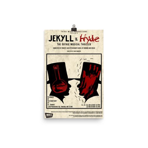 Jekyll & Hyde- red & black poster