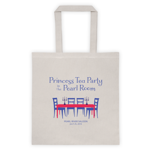 Princess Tea Party in the Pearl Room - tote bag