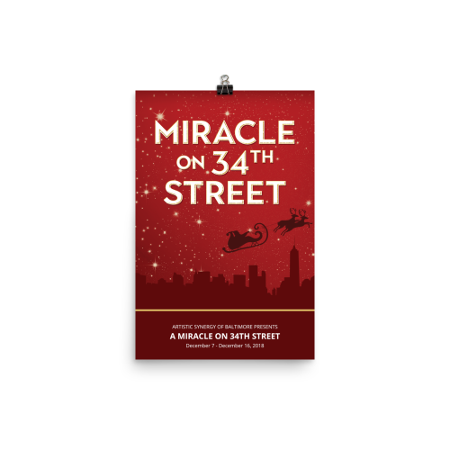A Miracle on 34th Street- Poster