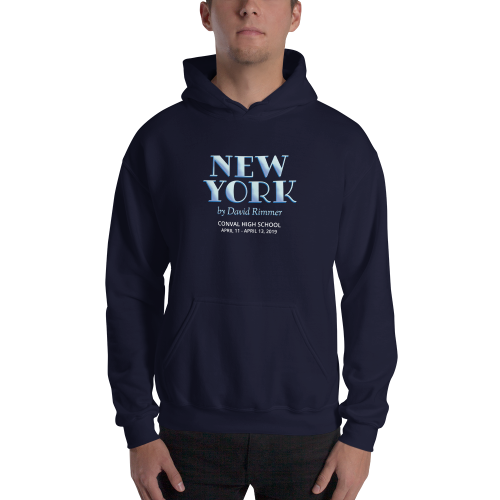 New York by David Rimmer-Hooded Sweatshirt