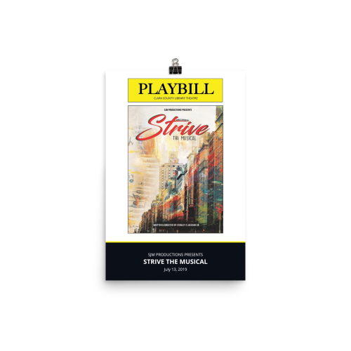 Strive the Musical- Poster
