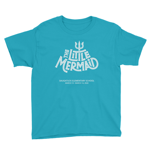 Youth Little Mermaid Teal T-shirt
