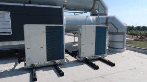 klimaatunit met warmtepompen om energie te besparen