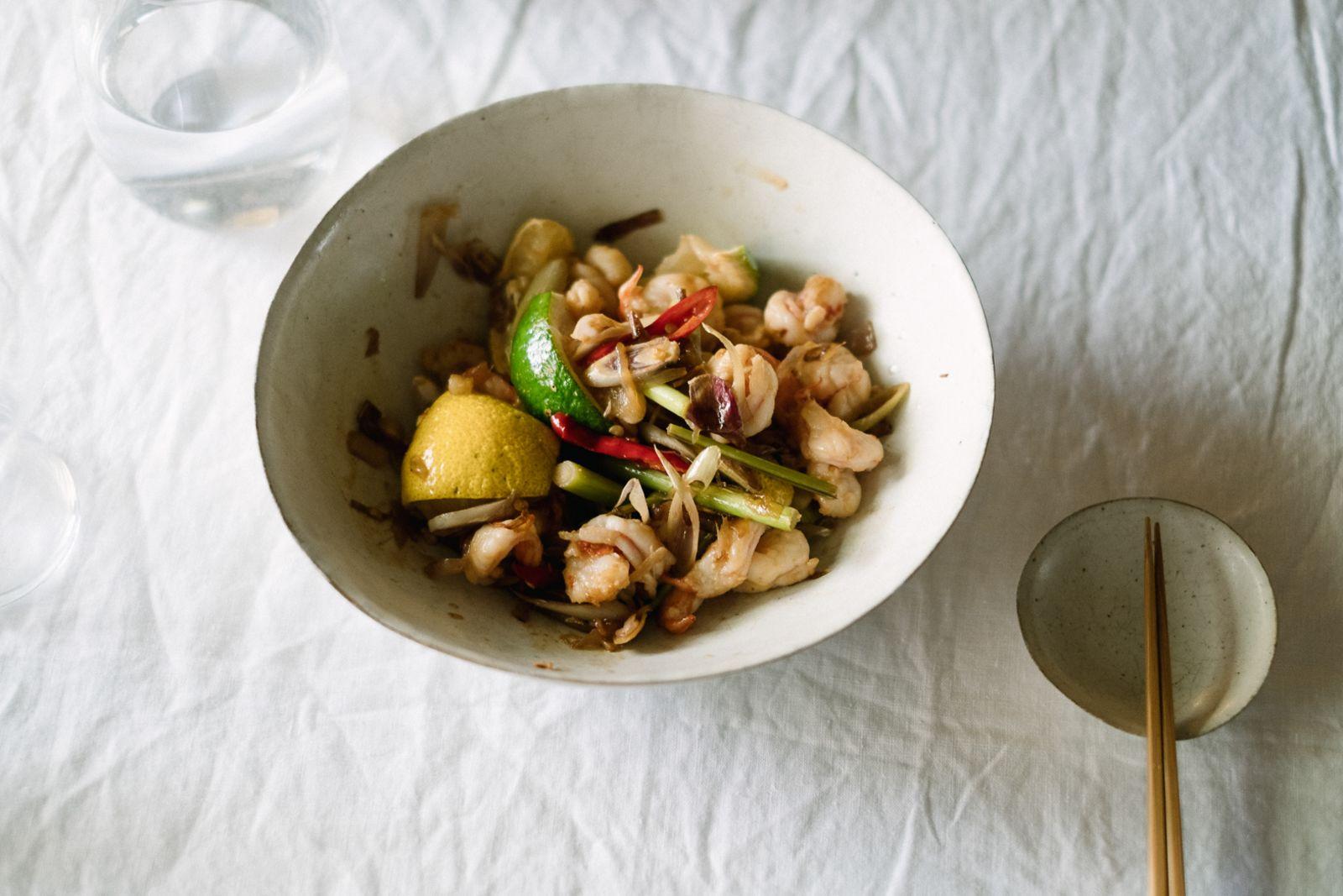爽口的泰式拌炒海鮮。