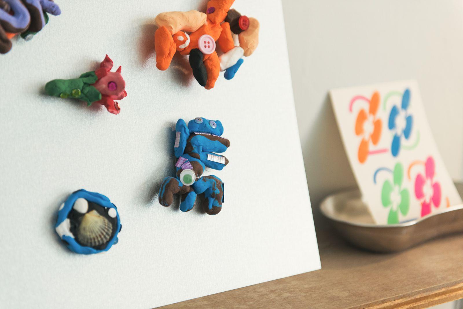 藝術家林亦軒的黏土作品