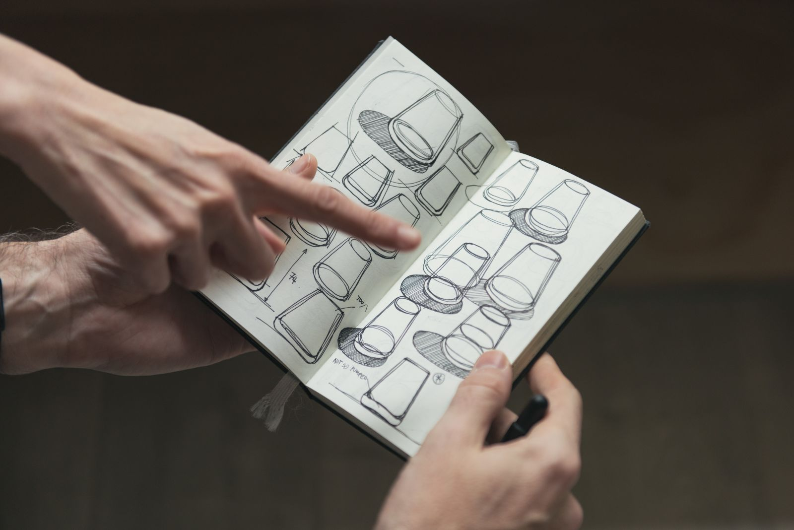 產品設計師隨身攜帶的草圖本